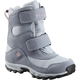 Columbia Parkers Peak Hook-and-Loop Bottes Enfant, cirrus grey/rosewater